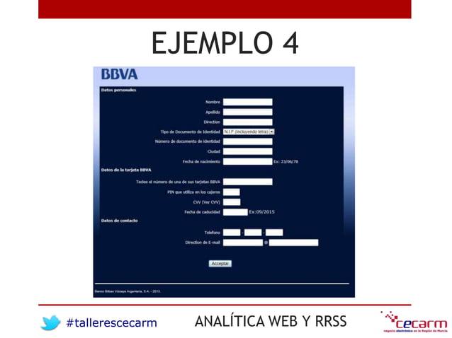 #tallerescecarm ANALÍTICA WEB Y RRSS EJEMPLO 4