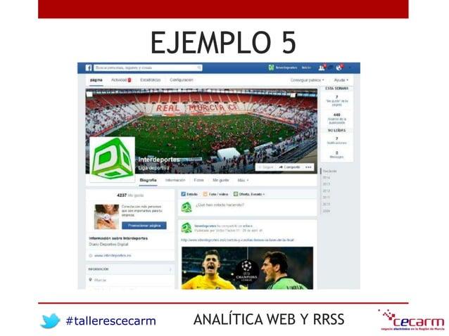 #tallerescecarm ANALÍTICA WEB Y RRSS EJEMPLO 5