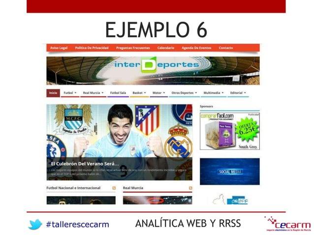 #tallerescecarm ANALÍTICA WEB Y RRSS EJEMPLO 6