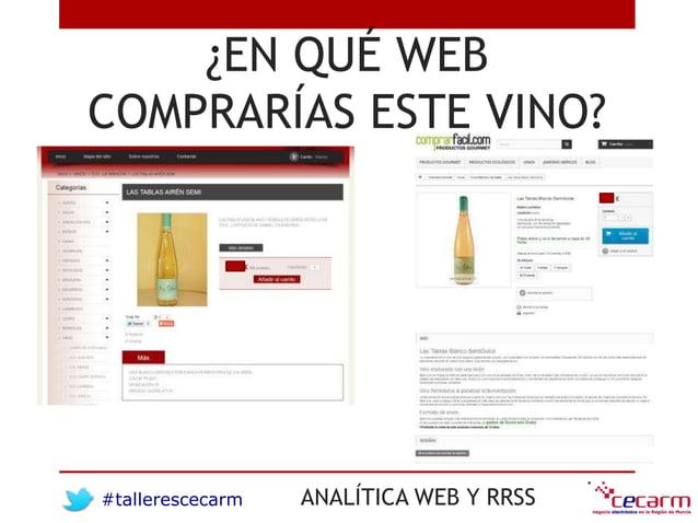 #tallerescecarm ANALÍTICA WEB Y RRSS ¿EN QUÉ WEB COMPRARÍAS ESTE VINO?