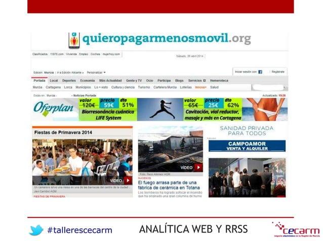 #tallerescecarm ANALÍTICA WEB Y RRSS