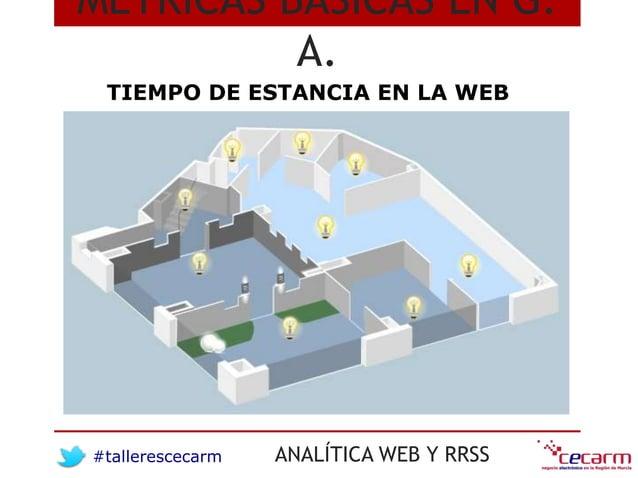 #tallerescecarm ANALÍTICA WEB Y RRSS MÉTRICAS BÁSICAS EN G. A. TIEMPO DE ESTANCIA EN LA WEB