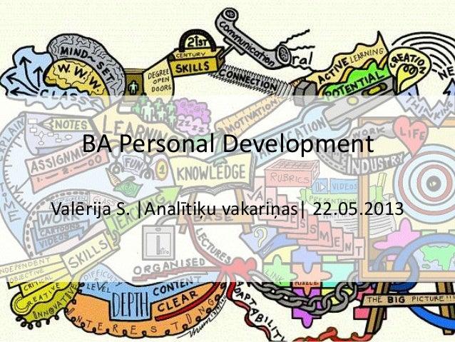 Valērija S.  Analītiķu vakariņas  22.05.2013BA Personal Development