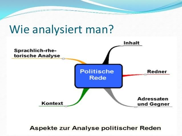Wie analysiert man?