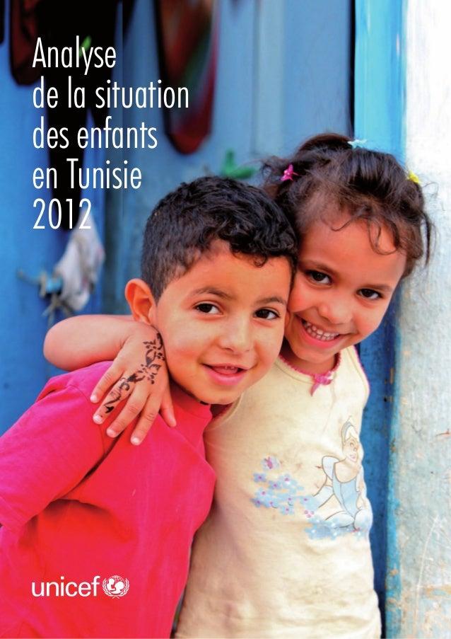 Analyse de la situation des enfants en Tunisie 2012