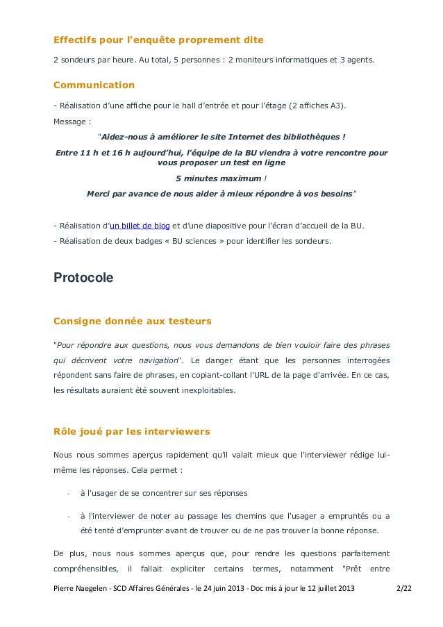 Analyse résultats usability tests - SCD Toulouse 3 Slide 2