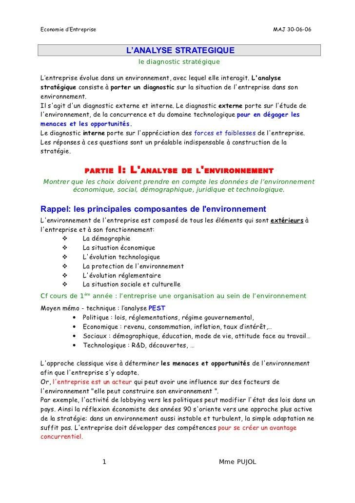 Economie d'Entreprise                                                         MAJ 30-06-06                             L'A...