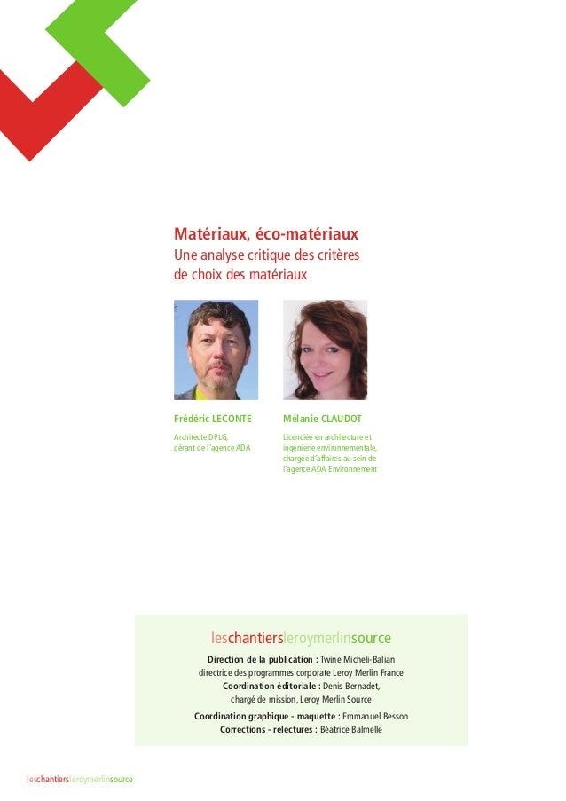 Gallery of analyse critique des critres de choix des - Ouate de cellulose leroy merlin ...