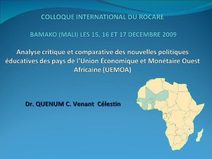 Dr. QUENUM C. Venant  Célestin