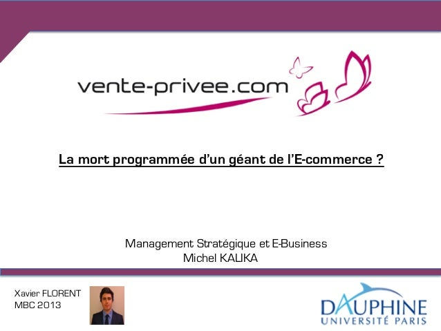 La mort programmée d'un géant de l'E-commerce ?                  Management Stratégique et E-Business                     ...