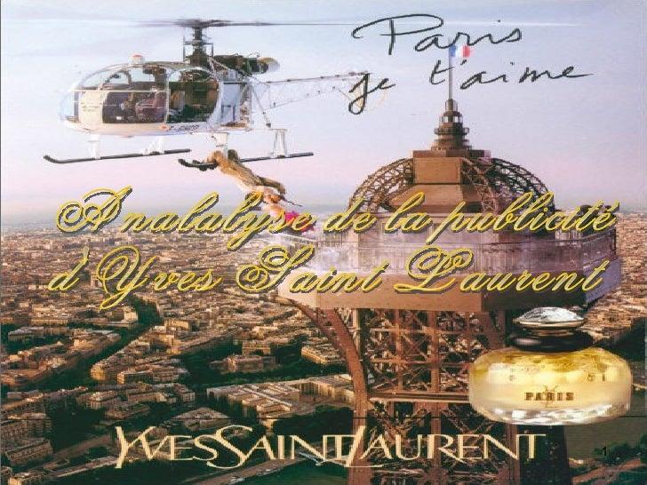 Analalyse de la publicité  d'Yves Saint Laurent