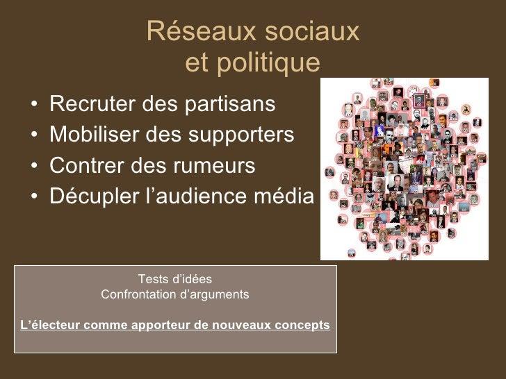 Analyse des réseaux sociaux et marketing politique Slide 2