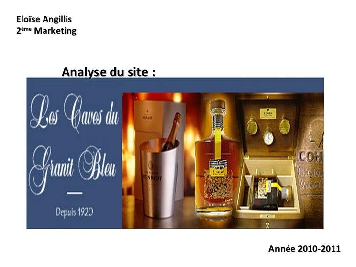 Eloïse Angillis 2 ème  Marketing Analyse du site : Année 2010-2011