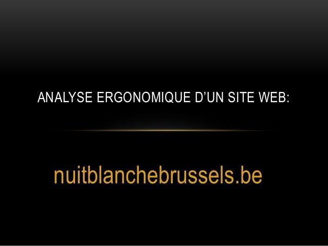 ANALYSE ERGONOMIQUE D'UN SITE WEB:  nuitblanchebrussels.be