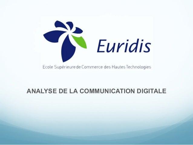 ANALYSE DE LA COMMUNICATION DIGITALE