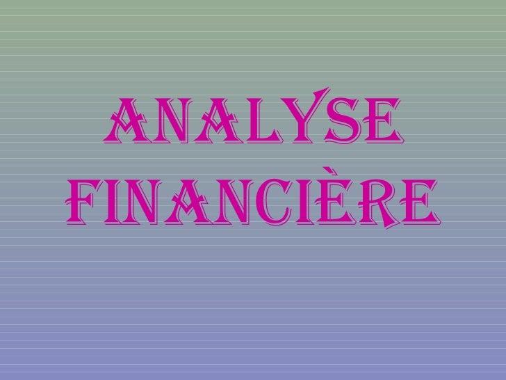 AnAlysefinAncière