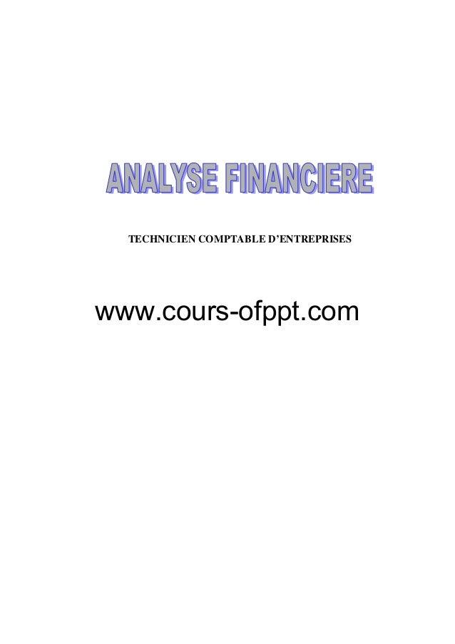 TECHNICIEN COMPTABLE D'ENTREPRISESwww.cours-ofppt.com
