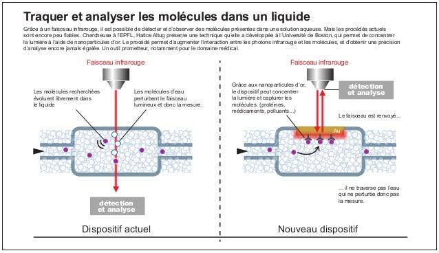 Faisceau infrarouge Le faisceau est renvoyé... ... il ne traverse pas l'eau qui ne perturbe donc pas la mesure. Au Les mol...