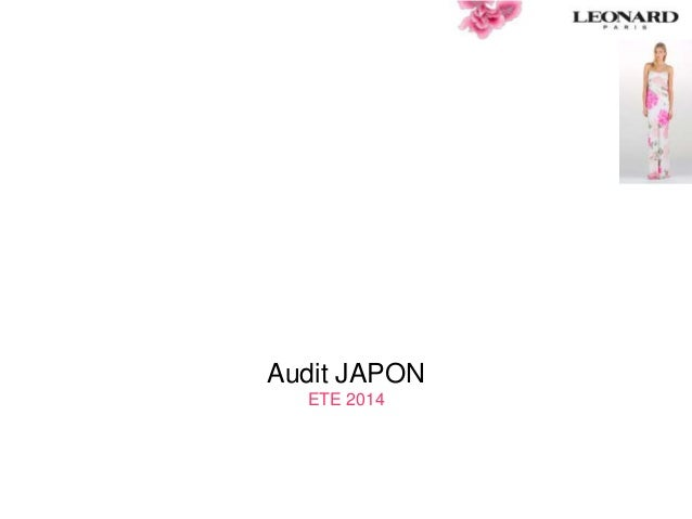 Audit JAPON ETE 2014