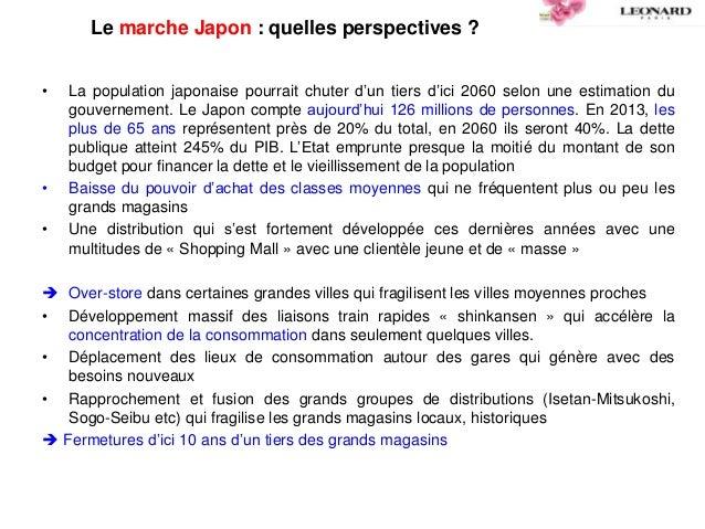 Le marche Japon : quelles perspectives ? • La population japonaise pourrait chuter d'un tiers d'ici 2060 selon une estimat...