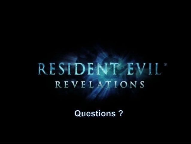 Analyse de l'ergonomie de Resident Evil Revelations