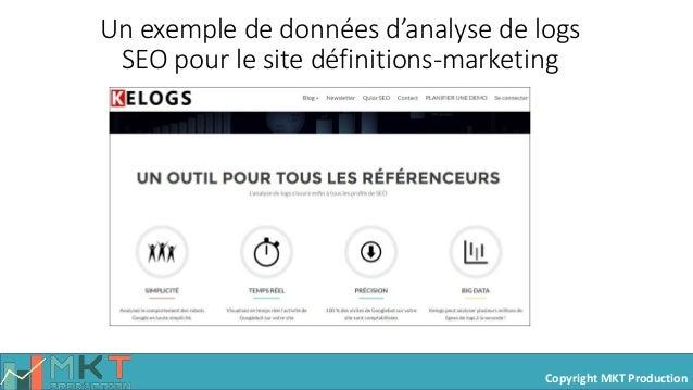 Copyright MKT Production Un exemple de données d'analyse de logs SEO pour le site définitions-marketing