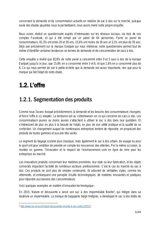 Eastpak Dossier Sectorielle Marque D'analyse Dossier D'analyse qnaaXTwf0