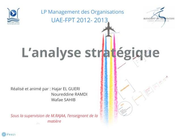 Analyse stratégique  Slide 2