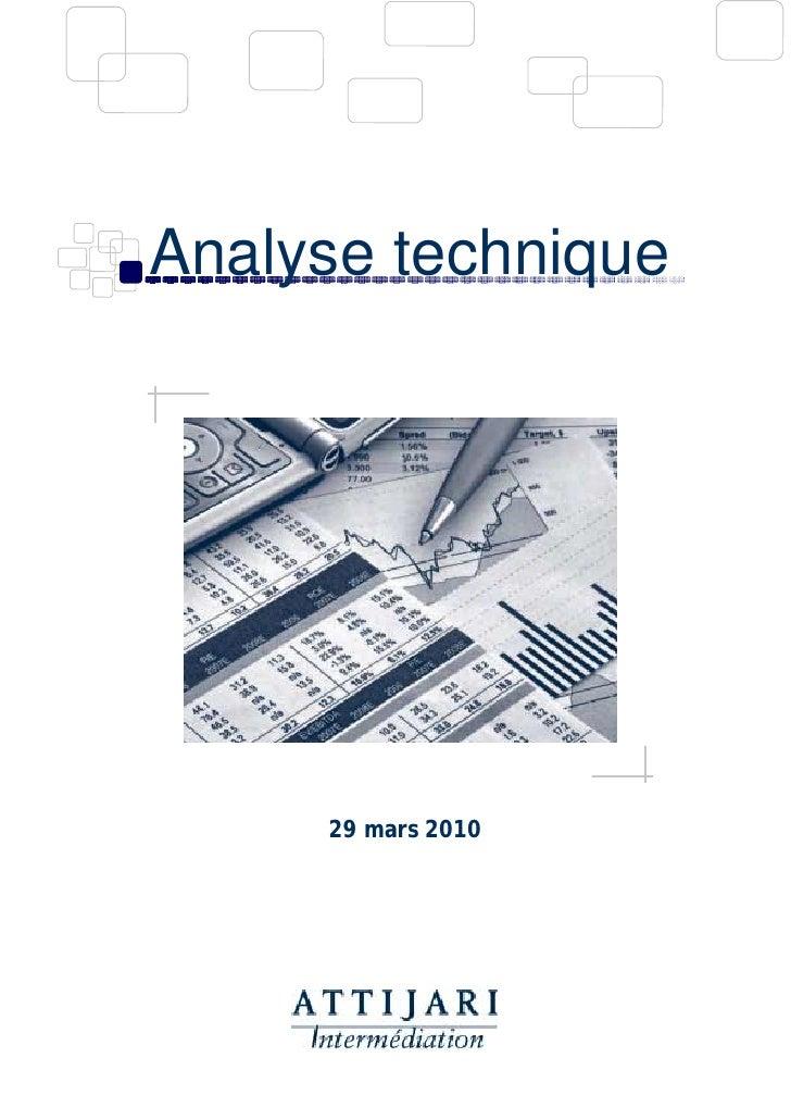 Analyse technique          29 mars 2010