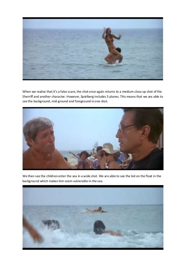 analysis of the film jaws Rhetorical analysis of jaws essaysjaws is horror film based on the beaches of a small island town called amity within the waters of these beaches lies a killer shark, hungry for human flesh after the terrorizing of several people by this ruthless shark, chief martin brody takes it upon himself t.
