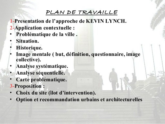 Analyse urbain de la ville de tipasa approche de kevin lynch for Architecture urbaine definition