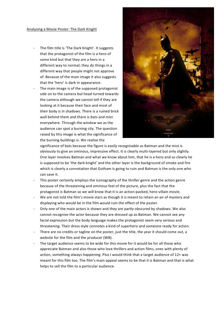 analysing a movie poster 3286125 657225analysing a movie poster the dark knight<br ><ul