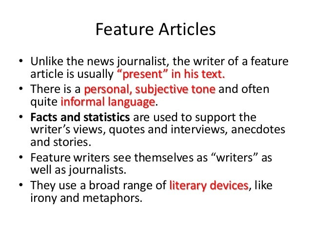 literary devices in news articles