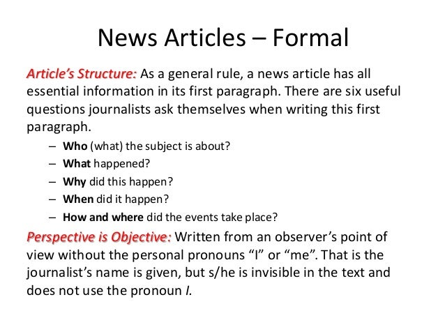 formal article