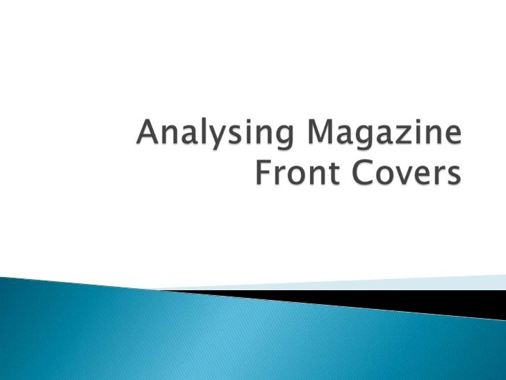 Analysing Magazine Front Covers<br />