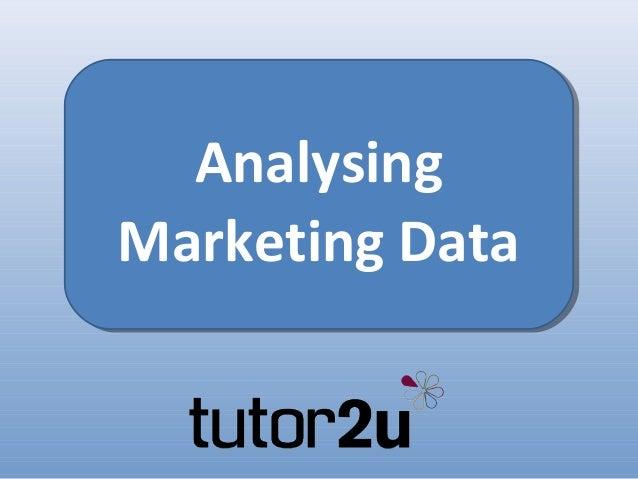AnalysingMarketing Data