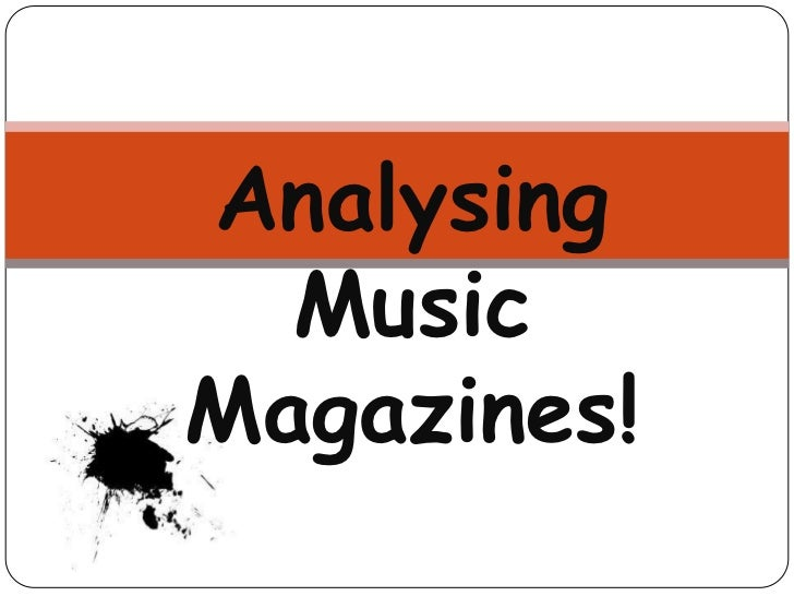 Analysing Music Magazines!<br />