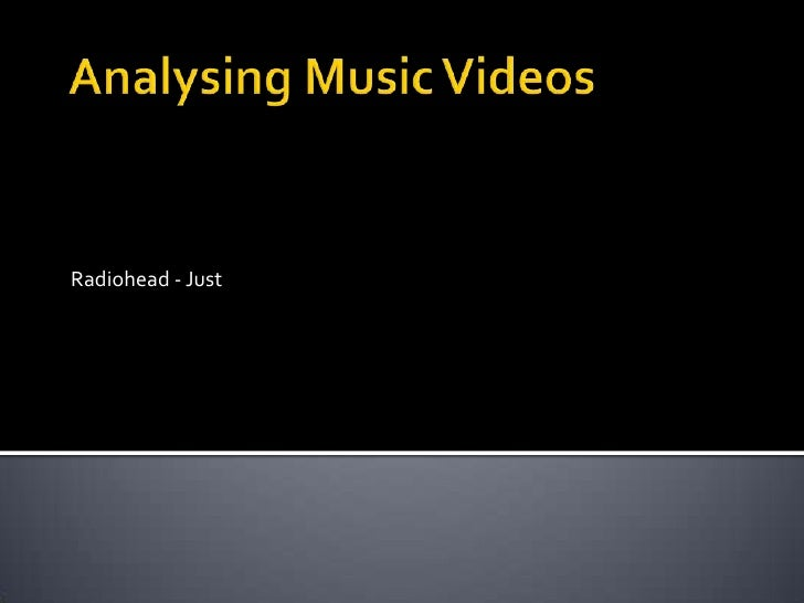 an analysis of music videos