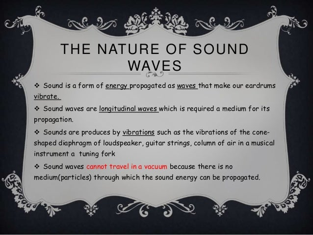Analysing sound waves