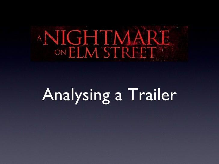 Analysing a Trailer
