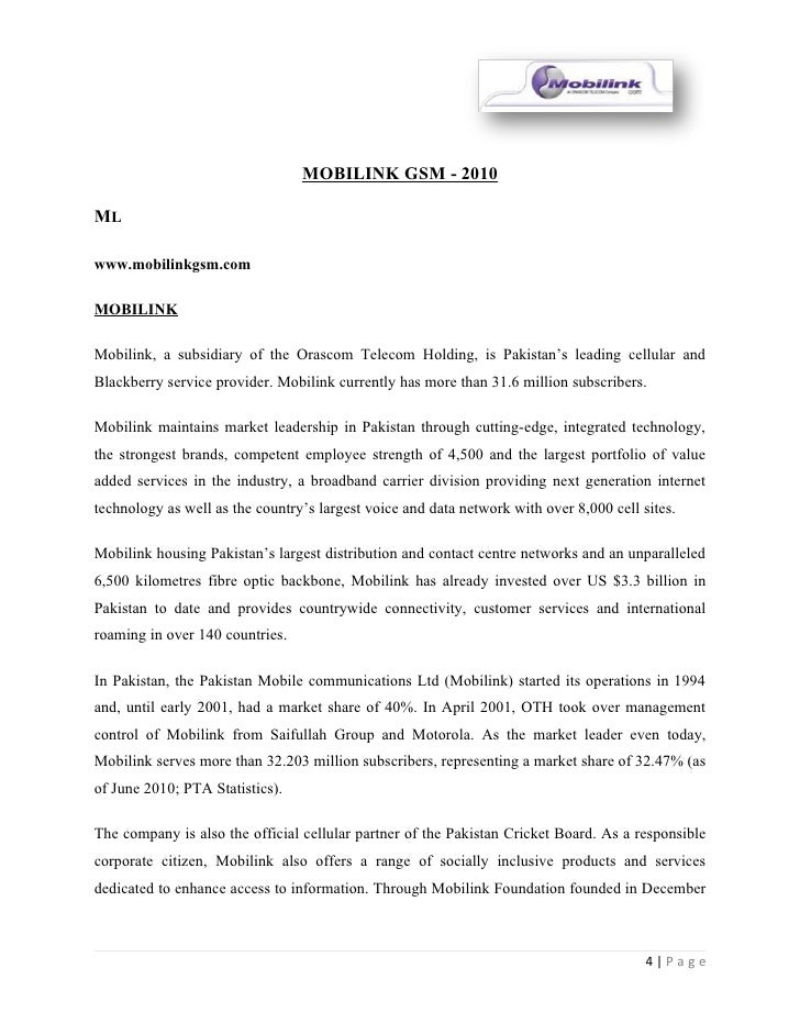 mission statement of mobilink Mission statement in line with the thrust of  associate hr employee services,  mobilink - a vimpelcom company, apr 2008 to sept 2012 incharge (voluntary).