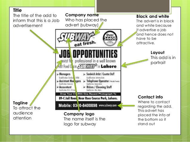 newspaper job advertisement template
