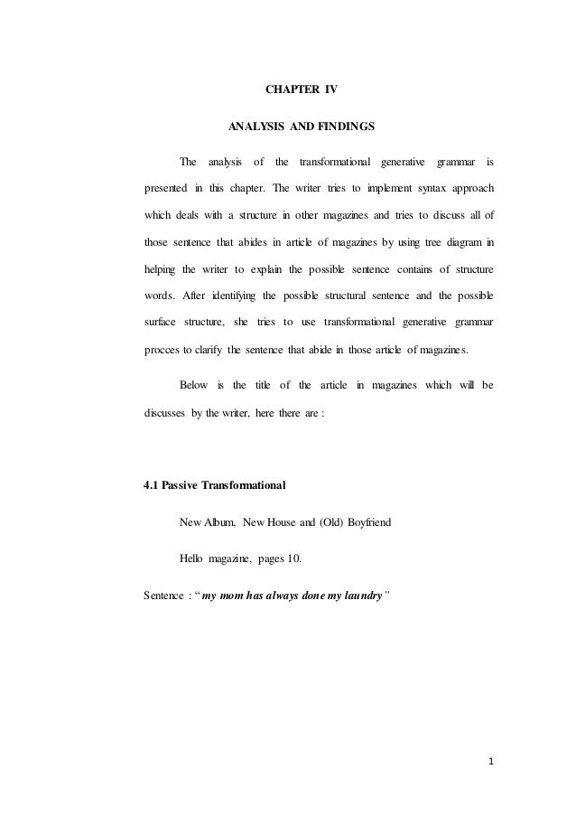 Skripsi Sastra Inggris Analysis Of Syntax