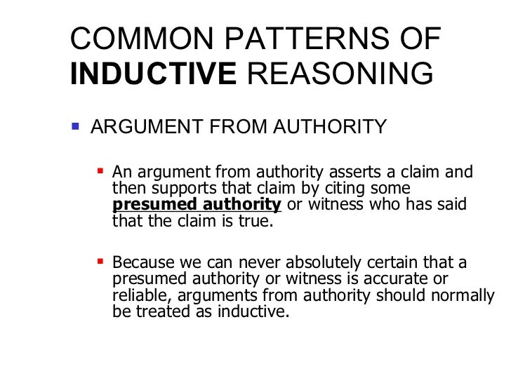 Analysis Inductive And Deductive Arguments