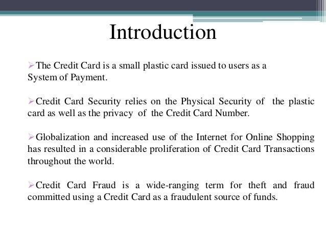 Credit Card Fraud Detection Techniques Ppt | Infocard.co
