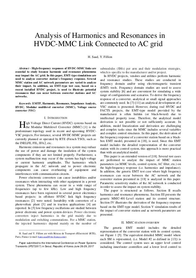 vsc hvdc for industrial power systems phd thesis