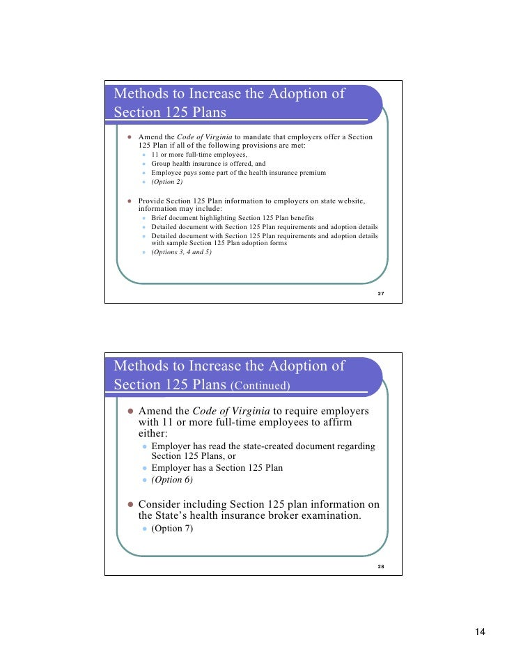 Free download sample section 125 plan document template.