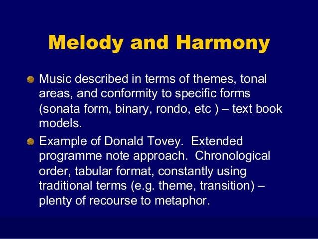 Essays musical analysis