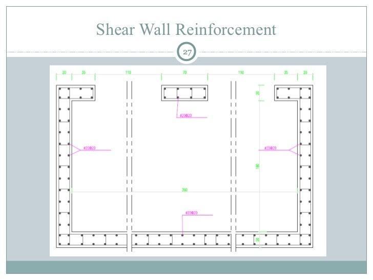 Shear Wall Reinforcement 27 ...