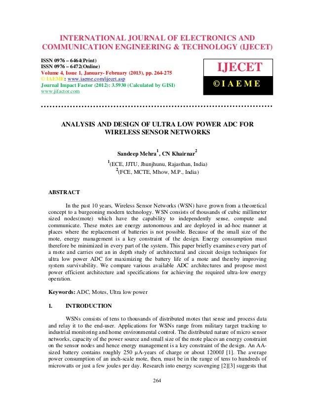 INTERNATIONAL JOURNAL OF ELECTRONICS AND  International Journal of Electronics and Communication Engineering & Technology ...